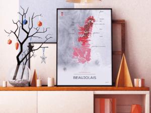 Poster des vignobles du Beaujolais