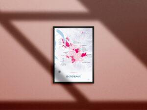 Poster vignoble Bordelais