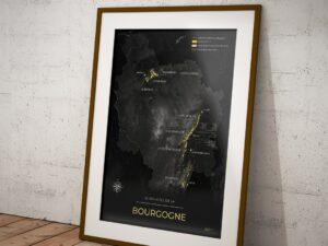 Poster vignoble de Bourgogne