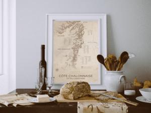 Carte vignoble du chalonnais