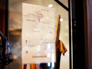Cartes des régions viticoles de la champagne poster