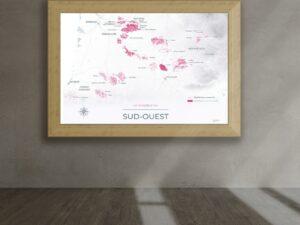 Poster vignoble du Sud-Ouest