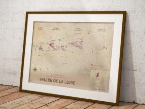 Poster vignobles de la Vallée de la Loire