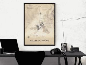 Poster vignobles de la vallée du Rhône