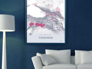 vignoble caucasien poster