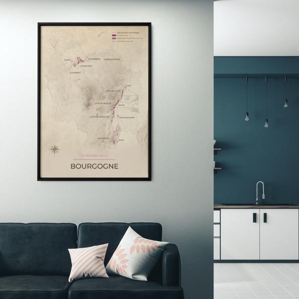 carte des vignobles de Bourgogne geoVINUM Vintage