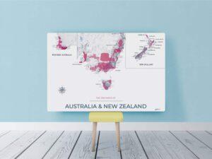 Mockup toile Australie et NZ Moderne