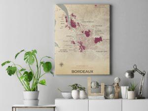 Mockup toile Bordeaux Vintage