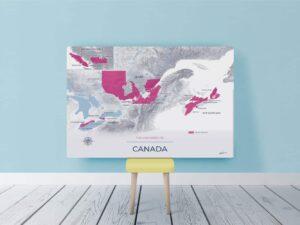 Mockup toile Canada Moderne