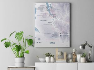 Mockup toile Chateaux 1855 Moderne