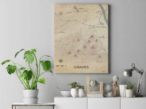 Mockup toile Chateaux Graves Vintage