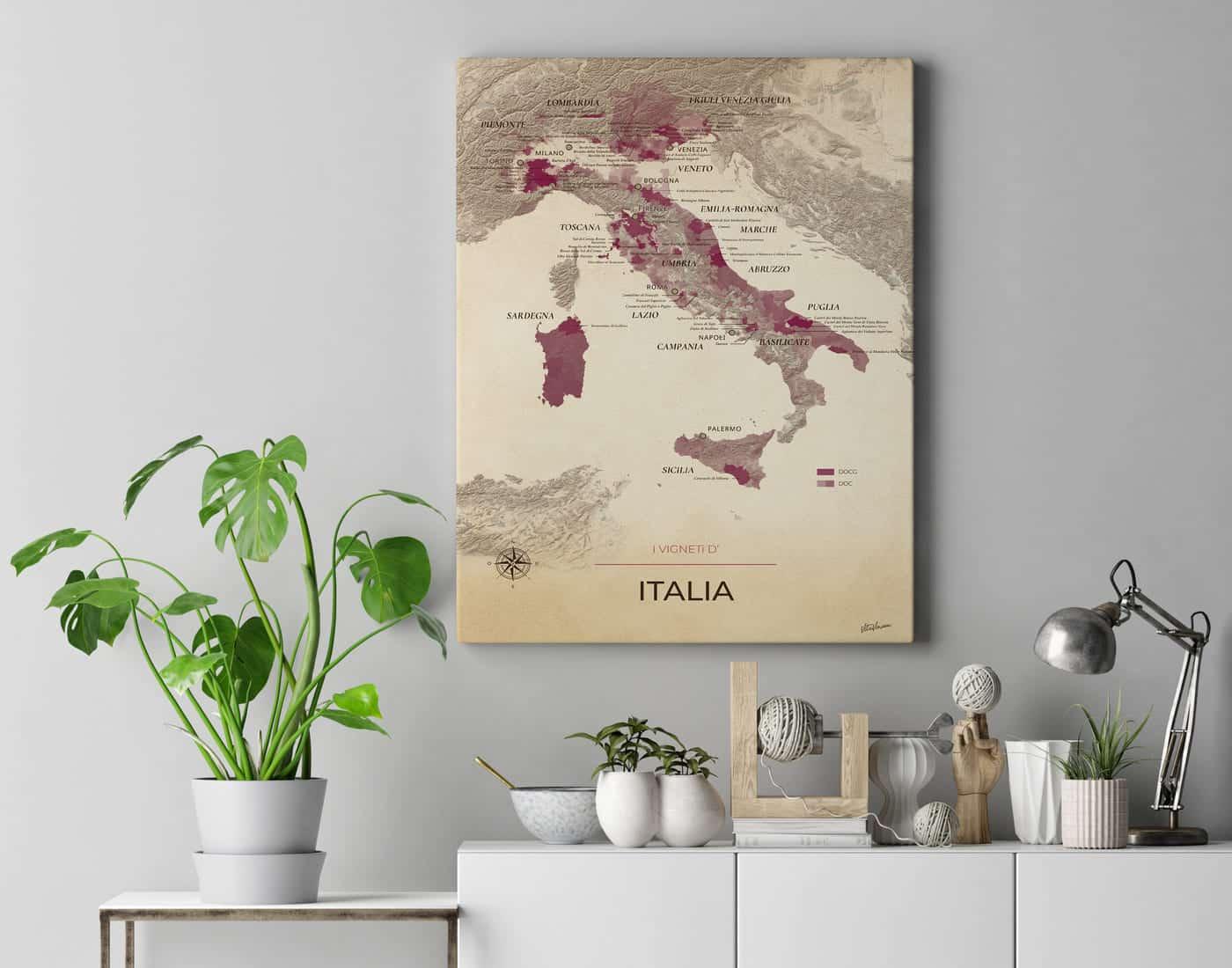 Mockup toile Italie Vintage